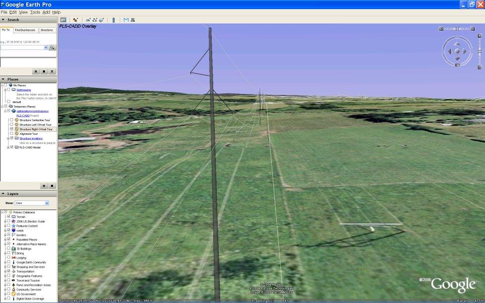PLS-CADD Google Earth Integration Tips