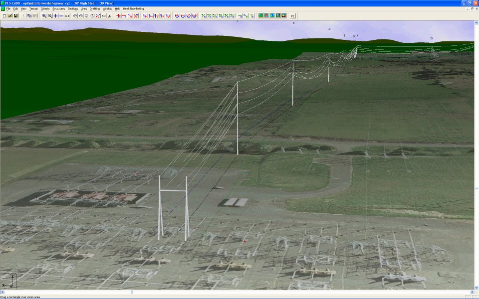 3D View in PLS-CADD