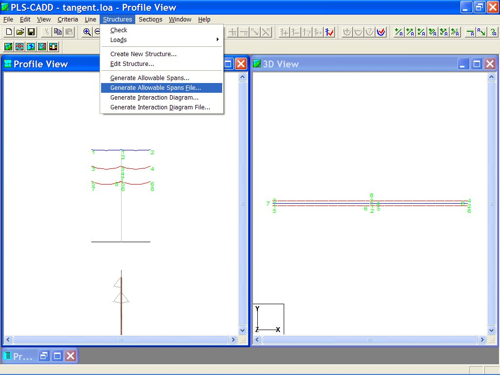 Generating Allowable Spans Files in PLS-CADD Lite